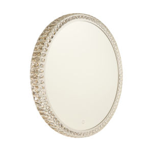 Reflections Crystal 32-Inch LED Round Wall Mirror