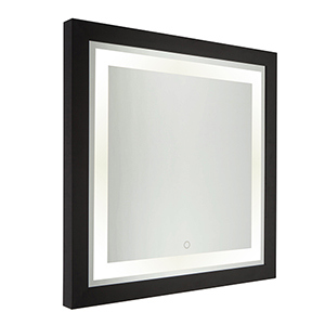 Valet Matte Black Four-Inch LED Mirror