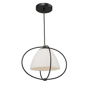 Dewdrop Black 16-Inch One-Light Pendant