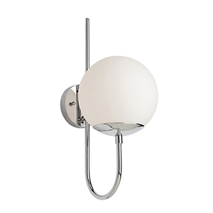 Moonglow Polished Nickel One-Light Wall Sconce