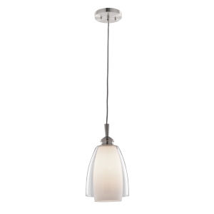 Decanter Brushed Nickel One-Light Mini Pendant