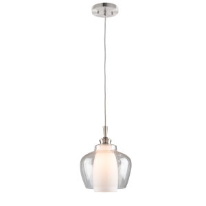 Decanter Brushed Nickel 14-Inch One-Light Pendant