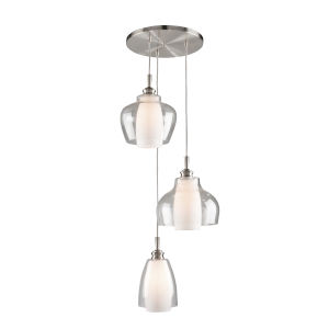 Decanter Brushed Nickel Three-Light Pendant