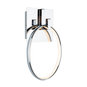 Trapeze Chrome LED Wall Sconce