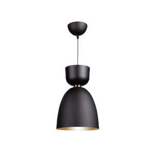 Tempo Matte Black and Brass Nine-Inch One-Light Mini Pendant