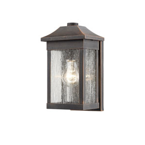 Morgan Rust 10-Inch One-Light Outdoor Wall Sconce