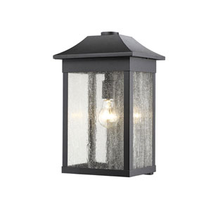 Morgan Black 16-Inch One-Light Outdoor Wall Sconce