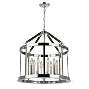 Dover Chrome Eight-Light Pendant