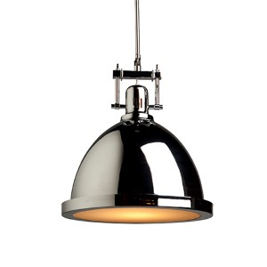 Broadview Chrome One-Light 12-Inch Wide Dome Pendant
