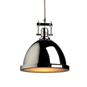 Broadview Chrome One-Light 15.5-Inch Wide Dome Pendant