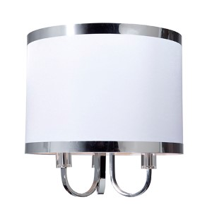 Madison White Three-Light 15.75-Inch Wide Chandelier