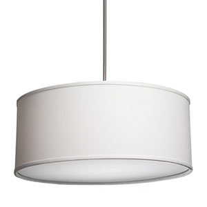 Mercer Street White Six-Light Large Round Drum Pendant