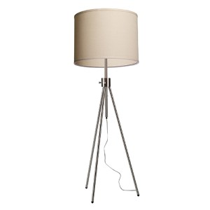 Mercer Street Brushed Nickel Four-Light 20-Inch Wide Floor Lamp