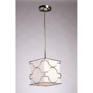 Morocco Chrome One-Light 8-Inch Wide Mini Pendant