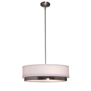 Scandia Brushed Nickel Three-Light Drum Pendant