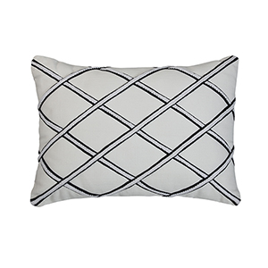 Merrin Black and White 14 x 20 In. Throw Pillow