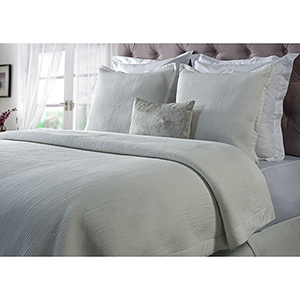 Laela White King Coverlet