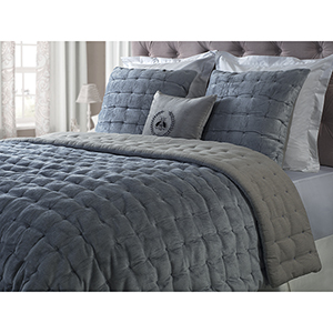 Bailey Smoky Blue King Quilt
