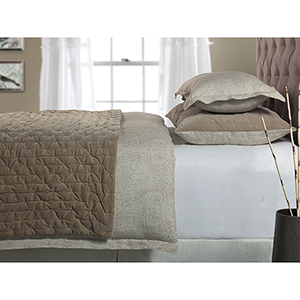 Abbey Beige King Sham Pair