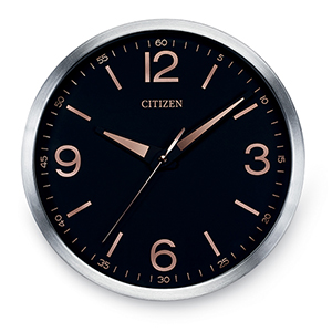 CC2002 Gallery Black and Silver Wall Clock
