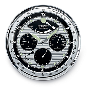 CC2013 Gallery Silver and Black Wall Clock