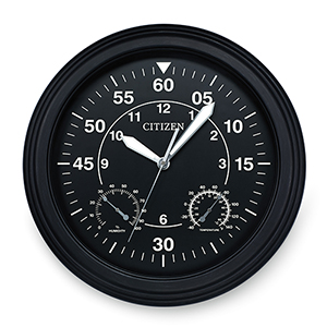 CC2016 Black Outdoor Clock