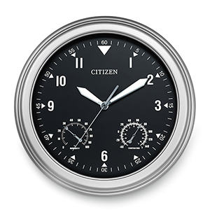CC2017 Black and Silver Outdoor Clock