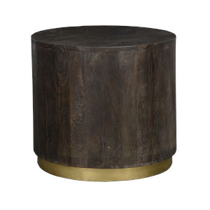 Andy Espresso Brown and Antique Brass End Table