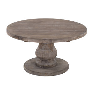 Carolina Rustic Brown Round Coffee Table