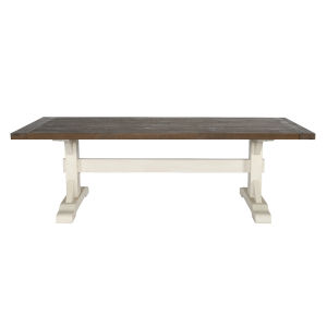 Kentwood Lark Brown and Antique White 94-Inch Dining Table