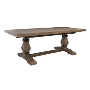 Quincy Desert Gray 114-Inch Extension Dining Table