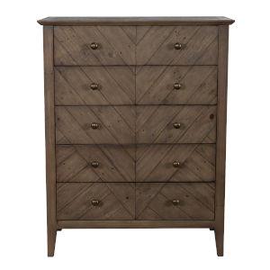 Bowen Lark Brown Five-Drawer Dresser