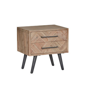Soren Multi Natural Two-Drawer Nightstand