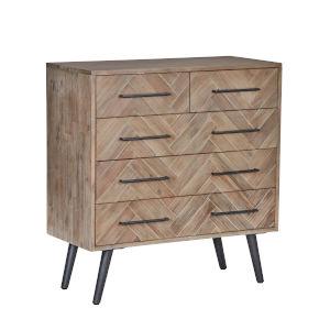 Soren Multi Natural Five-Drawer Dresser