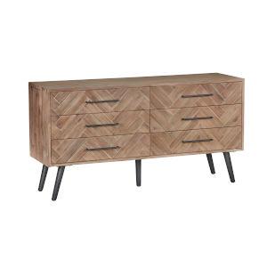Soren Multi Natural Six-Drawer Dresser