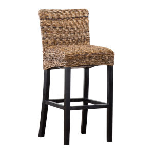 Portman Brown and Black Bar Stool
