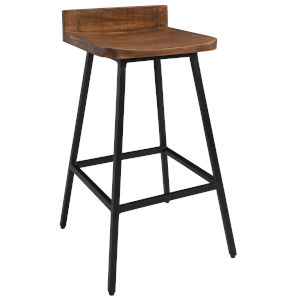 Pennie Caramel Brown and Black Counterstool