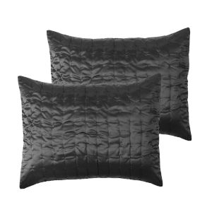Tanner Charcoal Two Piece Sham Set
