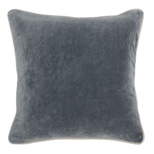 Colby 18-Inch Dark Grey Throw Pillow