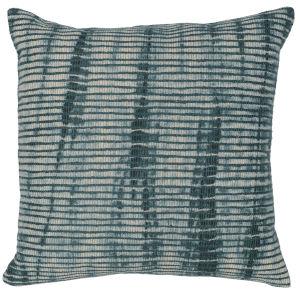 Carmen Green and Natural Throw Pillow