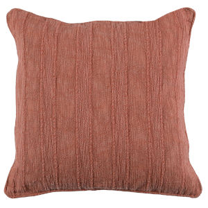 Colby 22-Inch Terra Cotta Throw Pillow