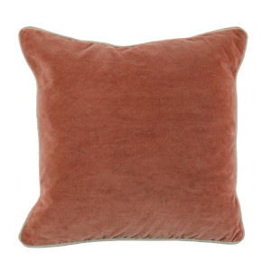 Colby 18-Inch Terra Cotta Throw Pillow