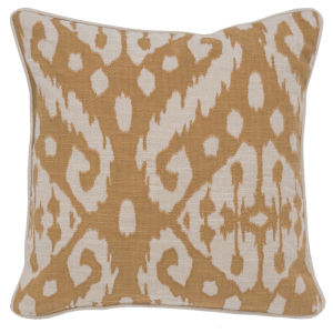 Rory Yellow and Natural Throw Pillow