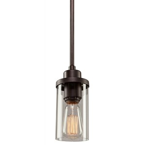 Melno Park Dark Chocolate One-Light 3.5-Inch Wide Mini Pendant