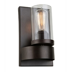 Melno Park Dark Chocolate One-Light 9.75-Inch High Wall Sconce