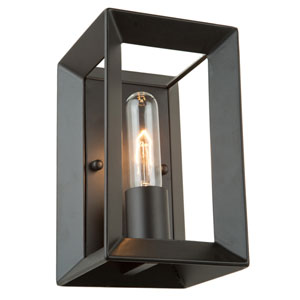 Vineyard Matte Black One-Light Wall Sconce