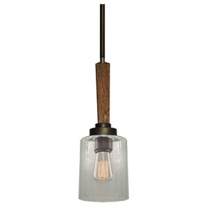 Legno Rustico Burnished Brass One-Light Mini Pendant