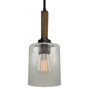 Legno Rustico Brunito One-Light Mini Pendant