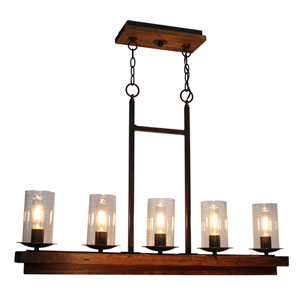 Legno Rustico Brunito Five-Light Chandelier