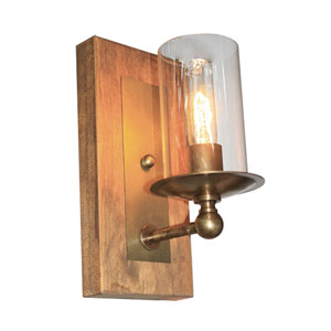 Legno Rustico Burnished Brass One-Light Wall Sconce